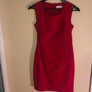 Red Calvin Klein dress